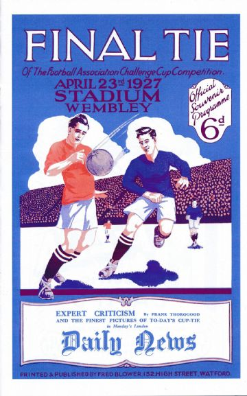 1927 FA CUP FINAL Arsenal  v Cardiff City - Full replica match programme